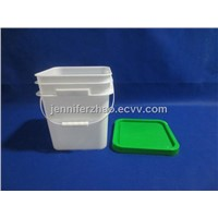 Plastic Pail,6 kg Square Bucket,Plastic Packaging Barrel Manufacturer