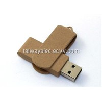 Promotional recycled paper USB drive, ODM/OEM orders are welcome, logo printing
