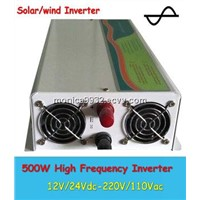 Pure Sine Wave 500W Solar Power Inverter 12V/24V-220/110V,50HZ Grid off Inverter