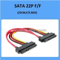 SATA cable 22pin > 22 pin female to female