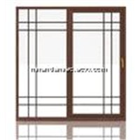 Sandwiched glass Style Sliding Door in 75 Series