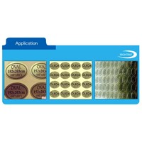 Self Adhesive Matte Golden Aluminum Foil Paper Label