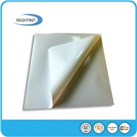 Self adhesive white glossy PVC film