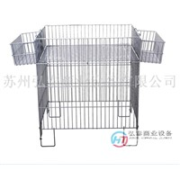 Supermarket wire mesh promotion table