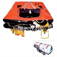Survitech Oceanmaster Life Raft, 8 Person, Solas Pack, Round Container
