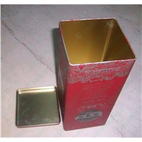 Tinplate zip-top spirit can,Single tin wine boxes for Spirit ,wholesale Liquor ring-pull  boxes