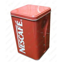 Tnplate coffee packaging pot,Square metal cans for coffee bean,china supplier