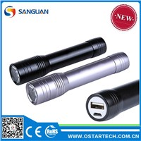 Torch Power Bank Rechargeable Mobile Phone Charger with Cree Q5 LED Torch