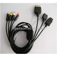 Universal AV and S Video Cable for X-BOX / PS2 / GC / N64