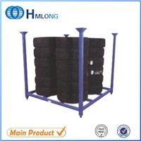 Warehouse folding stacking steel storage tyre rack manufacturers