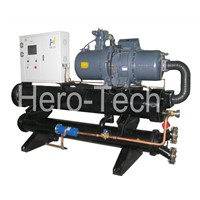 Water cooled low temperature screw chiller