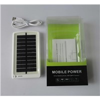 White 3000mAh (5V, 15Wh) USB Solar External Mobile Battery Backup Charger (MP-S3000B)