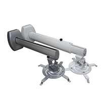 White Aluminum Universal Projector Bracket