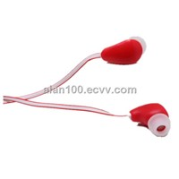 Wired ear phone with flat cable / Flat wire earphone