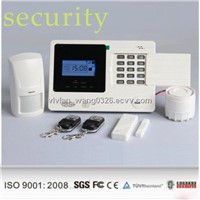 Wireless GSM Module Devices SMS Alerting Home Burglary Alarm System with Door Sensors and PIR