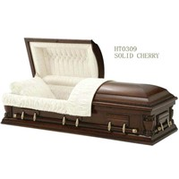 Wooden Casket with American Style (HT-0309)