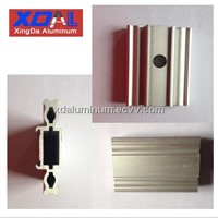 XD-008 Aluminum extrusion profile punching hole precision machined anodized