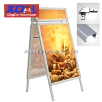 XD-J-H01 Aluminum outdoor poster stand double sides A frame with head for wholesales retails
