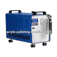 acrylic polishing machine-four operators work simultaneously