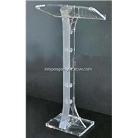 clear Acrylic Lecterns//Plexiglas Podiums/stand/pedestal with cross
