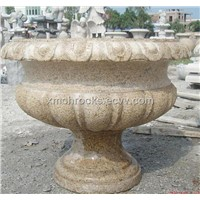 Travertine Bird Bath,Garden Granite Flower Pot