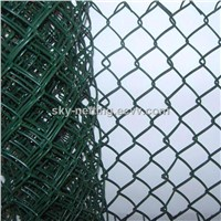 Green PVC Coated Chain Link Fencing