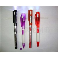 Half Metal Colorful Logo LED Light Pen