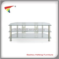 hot selling tempered glass tv stand