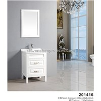 marble countertop vanity, bathroom vanity, white antique bathroom cabinet Model:201416