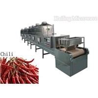microwave drying machine for chili