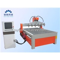 Multi-Heads CNC Router with Rotary Axis System-RayFine