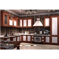 new design pvc laminated kitchen cabinet