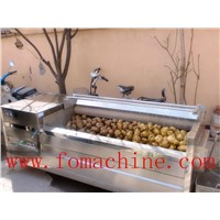 carrot/ potato washing and peeling machine