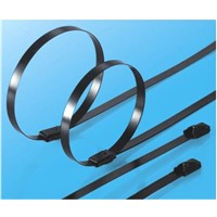 Self-Lock PVC Coated Stainless Steel Cable Tie Width from 10mm to 15mm