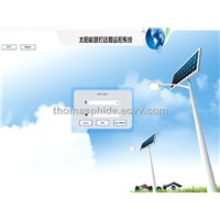 smart monitoring system for solar street light system  by computer or mobile phone