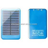 standby and emergency portable cell phone solar power charger 5000mA