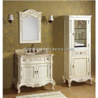 white solid wood bathroom wash cabinet modern style for HOT SELL