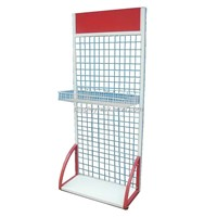 wire grid stand, metal socks display rack, cell phone accessory display rack