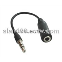 iPhone splitter cable (OA-iPhone) / Audio cable with compact design / iPhone adapter