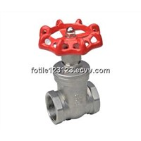stainless steel gate valve female thread end