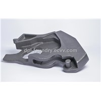 Casting for railway equipment (locking mechanism)