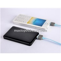 2600mAh Li-Polymer Fashion Piano Lacquer Power Bank for digital products