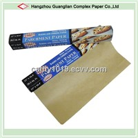 40GSM Eco-friendly Unbleached Silicone Parchment Paper Roll