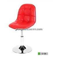 Leather/Chromed Base Swivel Counter Bar Stool C-26
