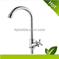 2015 Hot Sales Good Quality Chrome Plastic Products Cross Handlel Kitchen Faucet