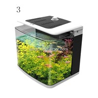 DC Input Multifunctional Aquarium Equip with Air Cleaner and Thermometer