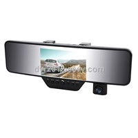 HD 1080P bluetooth rearview mirror dvr camera car black box w/ GPS
