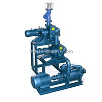 Roots air Ejector Water Ring pump system for vacuum conveying