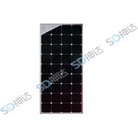 110W solar panel with glass and frame