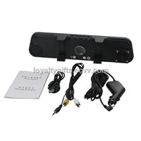 1280P Full HD DV300 Mirror DVR Rear View Camera 2.7 Inch LCD Motion Detection